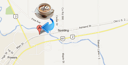 Map of where Java and Jive Coffeehouse is.